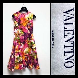NWOT Valentino Floral Print A-line Dress sz 6